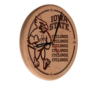 Iowa State Laser Engraved Wood Clock by the Holland Bar Stool Co.