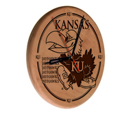 Kansas Laser Engraved Wood Clock by the Holland Bar Stool Co.