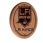 Los Angeles Kings Laser Engraved Wood Clock by the Holland Bar Stool Co.