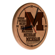 Michigan Laser Engraved Wood Clock by the Holland Bar Stool Co.