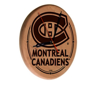 Montreal Canadiens Laser Engraved Wood Clock by the Holland Bar Stool Co.