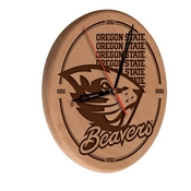 Oregon State Laser Engraved Wood Clock by the Holland Bar Stool Co.