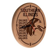 Southern Illinois Laser Engraved Wood Clock by the Holland Bar Stool Co.