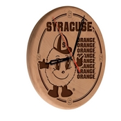 Syracuse Laser Engraved Wood Clock by the Holland Bar Stool Co.