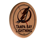 Tampa Bay Lightning Laser Engraved Wood Clock by the Holland Bar Stool Co.