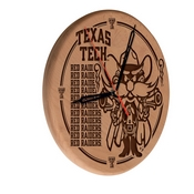 Texas Tech Laser Engraved Wood Clock by the Holland Bar Stool Co.