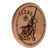 Texas A&M Laser Engraved Wood Clock by the Holland Bar Stool Co.