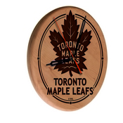 Toronto Maple Leafs Laser Engraved Wood Clock by the Holland Bar Stool Co.