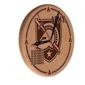 US Military Academy (ARMY) Laser Engraved Wood Clock by the Holland Bar Stool Co.