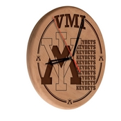Virginia Military Institute Laser Engraved Wood Clock by the Holland Bar Stool Co.