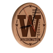 Washington Laser Engraved Wood Clock by the Holland Bar Stool Co.