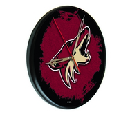 Arizona Coyotes Digitally Printed Wood Clock by the Holland Bar Stool Co.