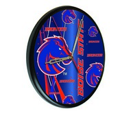 Boise State Digitally Printed Wood Clock by the Holland Bar Stool Co.