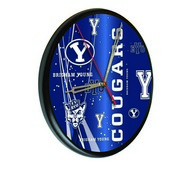 Brigham Young Digitally Printed Wood Clock by the Holland Bar Stool Co.
