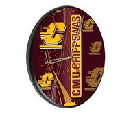 Central Michigan Digitally Printed Wood Clock by the Holland Bar Stool Co.
