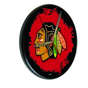 Chicago Blackhawks Digitally Printed Wood Clock by the Holland Bar Stool Co.