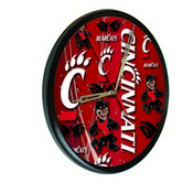 Cincinnati Digitally Printed Wood Clock by the Holland Bar Stool Co.