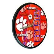 Clemson Digitally Printed Wood Clock by the Holland Bar Stool Co.