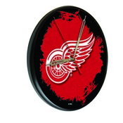 Detroit Red Wings Digitally Printed Wood Clock by the Holland Bar Stool Co.