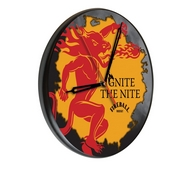 Fireball Digitally Printed Wood Clock by the Holland Bar Stool Co.