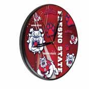 Fresno State Digitally Printed Wood Clock by the Holland Bar Stool Co.