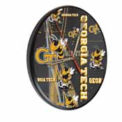 Georgia Tech Digitally Printed Wood Clock by the Holland Bar Stool Co.