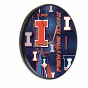 Illinois Digitally Printed Wood Clock by the Holland Bar Stool Co.