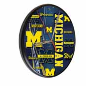 Michigan Digitally Printed Wood Clock by the Holland Bar Stool Co.