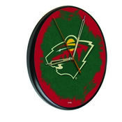 Minnesota Wild Digitally Printed Wood Clock by the Holland Bar Stool Co.