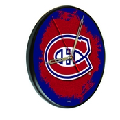 Montreal Canadiens Digitally Printed Wood Clock by the Holland Bar Stool Co.
