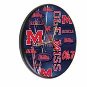 Ole' Miss Digitally Printed Wood Clock by the Holland Bar Stool Co.