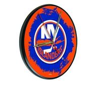 New York Islanders Digitally Printed Wood Clock by the Holland Bar Stool Co.