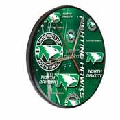 North Dakota Digitally Printed Wood Clock by the Holland Bar Stool Co.