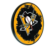 Pittsburgh Penguins Digitally Printed Wood Clock by the Holland Bar Stool Co.