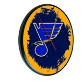 St Louis Blues Digitally Printed Wood Clock by the Holland Bar Stool Co.