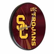 USC Trojans Digitally Printed Wood Clock by the Holland Bar Stool Co.