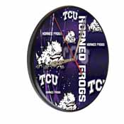 TCU Digitally Printed Wood Clock by the Holland Bar Stool Co.