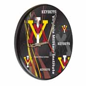 Virginia Military Institute Digitally Printed Wood Clock by the Holland Bar Stool Co.