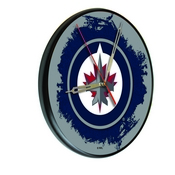 Winnipeg Jets Digitally Printed Wood Clock by the Holland Bar Stool Co.