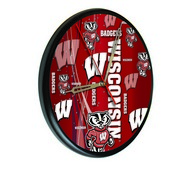 Wisconsin Digitally Printed Wood Clock by the Holland Bar Stool Co.