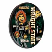 Wright State Digitally Printed Wood Clock by the Holland Bar Stool Co.