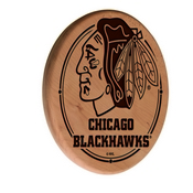 Chicago Blackhawks Laser Engraved Wood Sign by the Holland Bar Stool Co.