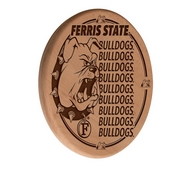 Ferris State Laser Engraved Wood Sign by the Holland Bar Stool Co.