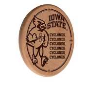 Iowa State Laser Engraved Wood Sign by the Holland Bar Stool Co.
