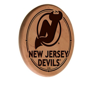 New Jersey Devils Laser Engraved Wood Sign by the Holland Bar Stool Co.