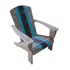 CAROLINA PANTHERS WOODEN ADIRONDACK CHAIR