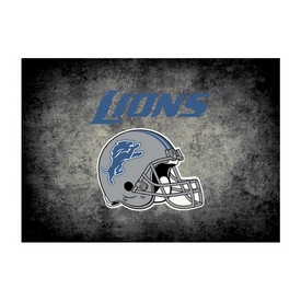 Detroit Lions 6'x8' Distressed Rug