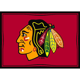 Chicago Blackhawks 8X11 Spirit Rug