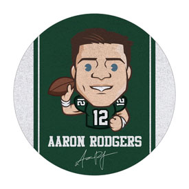 Aaron Rodgers Players Round Area Rug