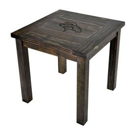 Denver Broncos Reclaimed Side Table